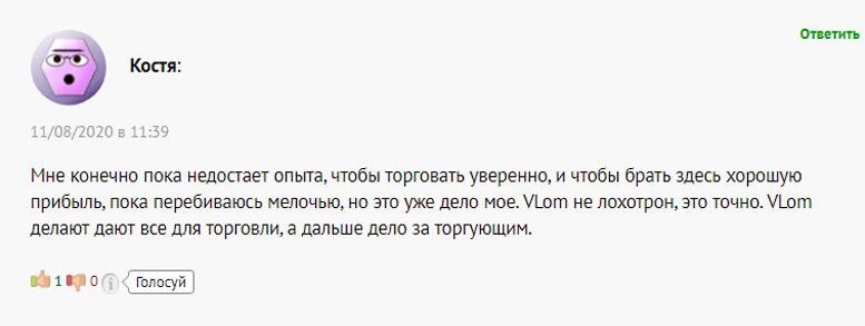 Обзор брокера Vlom. Отзывы клиентов